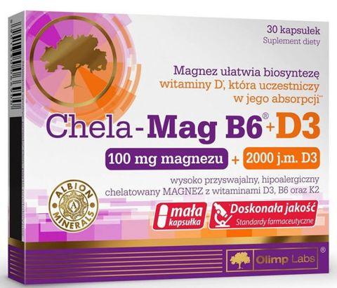 OLIMP Chela-Mag B6 + D3 x 30 tabletek