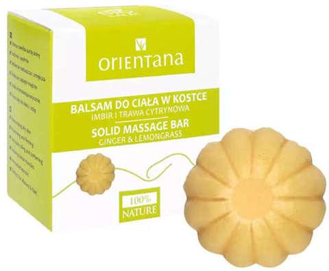ORIENTANA Balsam do ciała w kostce Imbir i Trawa cytrynowa 100% naturalny 60g