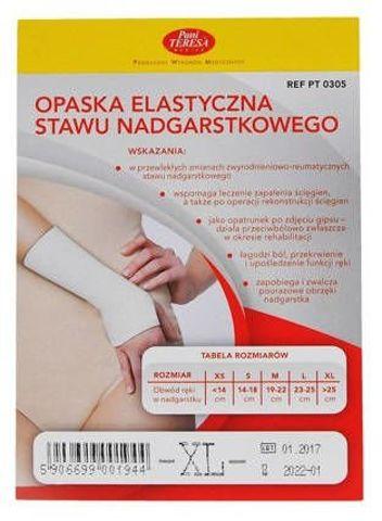 Opaska elastyczna nadgarstka Pani Teresa XL x 1 sztuka