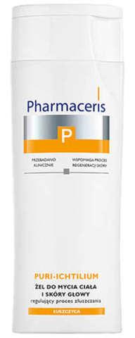 Pharmaceris P Puri-Ichtilium żel do mycia ciała i skóry głowy 250ml