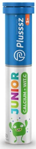 Plusssz Junior Calcium+Wit.C x 20 tabletek musujących