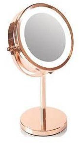 RIO Magnifying Mirror Rose Gold LED lustro x 1 sztuka