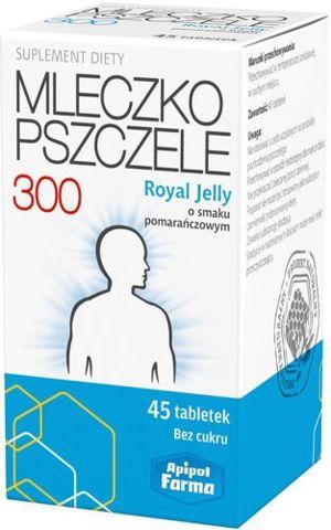 ROYAL JELLY Mleczko pszczele liofilizowane 300mg x 45 tabletek