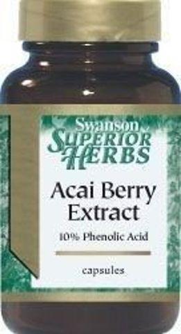 SWANSON Acai Berry ekstrakt 500mg x 60 kapsułek