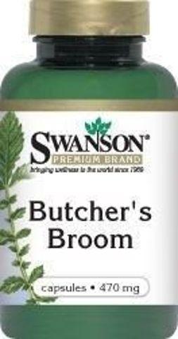 SWANSON Butcher's broom - Ruszczyk kolczasty 470mg x 100 kapsułek