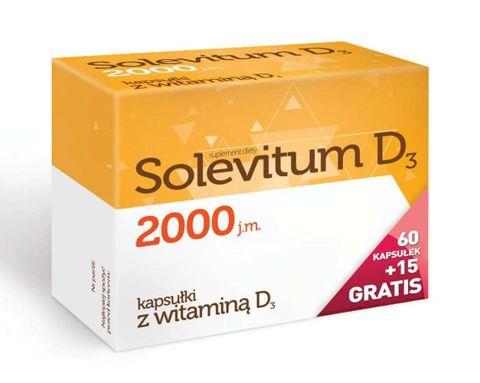 Solevitum D3 2000j.m. x 60 kapsułek + 15 gratis!