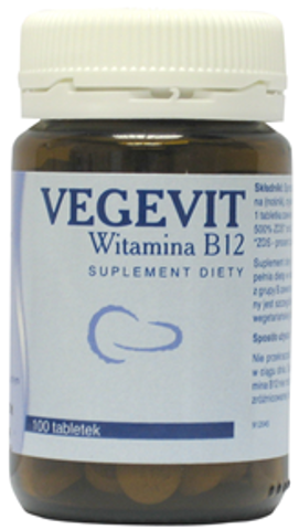 VEGEVIT Witamina B12 x 100 tabletek