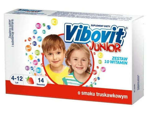 VIBOVIT Junior x 14 saszetek - truskawkowy
