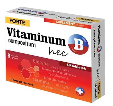 VITAMINUM B COMPOSITUM FORTE HEC x 60 tabletek